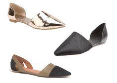 Pointy toed flats