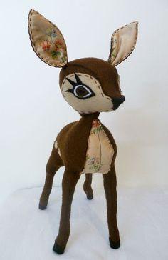 Rosie felt hand stitched deer