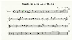 Sherlock Violin sheet music