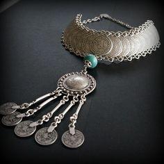 Meliha Gypsy Silver Coin Necklace