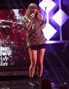 Legs for days: Taylor Swift made her triumphant comeback to the stage after 10 months as she delighted fans at KIIS FM's Jingle Ball 2017 in Los Angeles on Friday night
