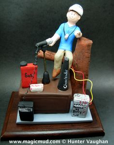 Coach Dad's Christmas Gift  www.magicmud.com 1 800 231 9814 creating a custom made gift figurine for any man based on the things he likes to do! ...incorporating his work, sports, family, hobbies, food, drink, electronic gadgets, etc. $225   #dad #men #coach #guys #christmas #birthday #anniversary #custom #personalized #xmas #present #award #ChristmasGift #BirthdayGift #husband