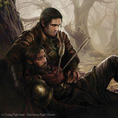 "Aragron and Boromir. LOTR LCG card ""Ill Fate."""