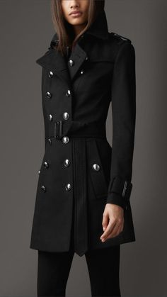 Mid-Length Wool Cashmere Trench Coat $1 thestylecure.com