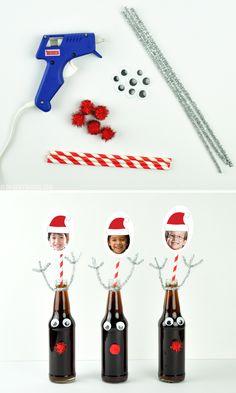 DIY Reindeer Soda Bo