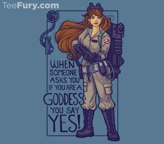 """""""I Ain't Afraid of No Girls"""" Ghostbusters tee at TeeFury today!"""
