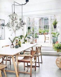 Beautiful Modern Farmhouse Dining Room Decor Ideas – Home Decor Ideas Home Interior, Interior Design, Interior Stylist, Luxury Interior, Interior Livingroom, Interior Plants, Design Interiors, Kitchen Interior, Deco Jungle