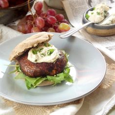 Smoky Portobello Breakfast Sandwiches with Cashew Cream Cheese