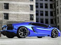 Blue chrome Aventador #CarFlash