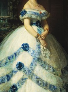 Sadness and classic art Old Dresses, Pretty Dresses, Beautiful Dresses, Vintage Dresses, Vintage Outfits, Historical Costume, Historical Clothing, Fashion History, Fashion Art