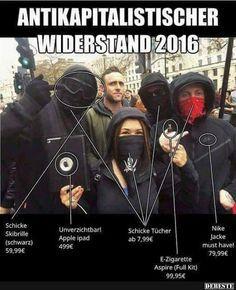Antikapitalischer Widerstand 2016.. | Lustige Bilder, Sprüche, Witze, echt lustig