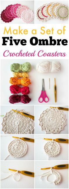 #freecrochetpatterns  look very beautiful and cute with the soft yarn and the different colors of the threads.  Of course, you can create many others DIY coasters but crochet coaster patterns are really adorable and super beautiful.