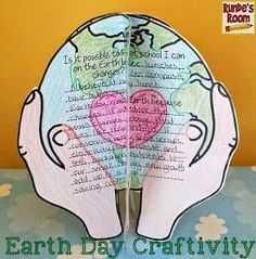 Earth Day Craftivity - makes a beautiful display of learning in the classroom - and really gets students THINKING! Earth Day Tips, Earth Day Projects, Earth Day Crafts, Earth Month, Earth Day Activities, Holiday Activities, Science Activities, Writing Activities, Science Fun