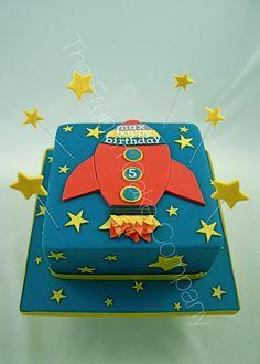 Gâteau thème fusée Space craft birthday cake