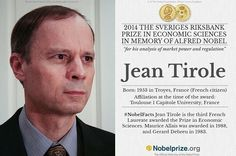 French Economist Jean Tirole Wins Nobel Economic Prize