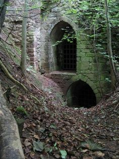 Although mostly ruined, deep within Yester Castle's interior lies the infamous Goblin Hall, with one of the oldest surviving Gothic stone arched ceilings in existence, built in 1267 in the village of Gifford in East Lothian, Scotland. Abandoned Castles, Abandoned Buildings, Abandoned Places, Haunted Places, Haunted Castles, Derelict Places, Spooky Places, Abandoned Mansions, Photo Chateau