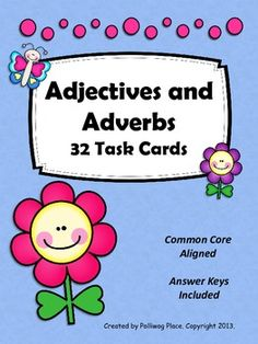 Adjectives and Adverbs Task Cards - Grammar Practice Set ($)
