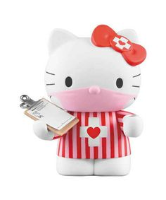 MEDICOM TOY DR. ROMANELLI HELLO KITTY ❤ VCD Figure CANDY STRIPE Pink Japan