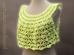 Resultado de imagen para tops a crochet paso a paso