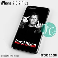 Norman Rreedus as Daryl Dixon Middle Finger - Z Phone case for iPhone 7 and 7 Plus