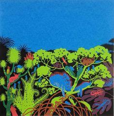 Colour Jungle screenprint by katherinamanolessou on Etsy https://www.etsy.com/listing/213027400/colour-jungle-screenprint