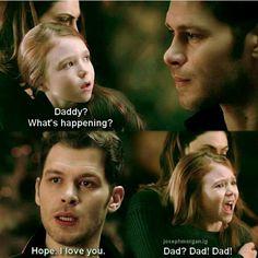 I cried sm Klaus And Hope, Original Vampire, I Love My Dad, Cinema, Joseph Morgan, Vampire Diaries The Originals, The Cw, Drama Series, Always And Forever