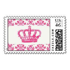 Elegant Crown Postage Stamps