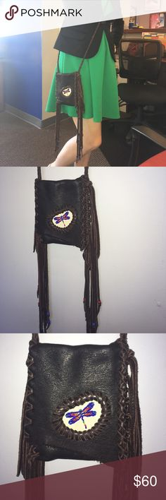 Selling this Hand-crafted bohemian chic dragonfly purse on Poshmark! My username is: lovely3nvision. #shopmycloset #poshmark #fashion #shopping #style #forsale #Handmade #Handbags