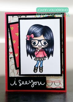 Just love this nerdy look! http://joboogie.typepad.com/stamping/2016/03/stamp-anniething-i-see-you.html