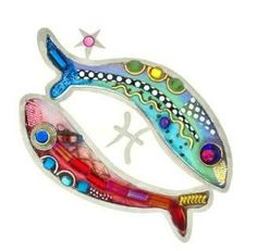 Pisces the Fish Pin or Brooch