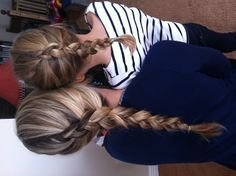 Mother daughter braids :)