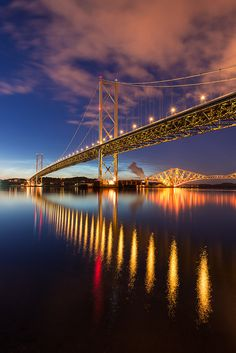 Forth Bridges and Noctilucent Clouds | by Edinburgh & Beyond Photography