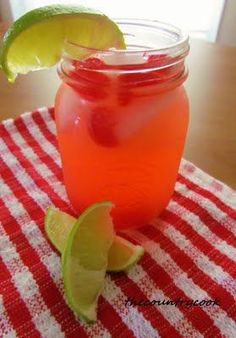 Cherry Limeade recipe so easy you will never buy one again! www.thecountrycook.net