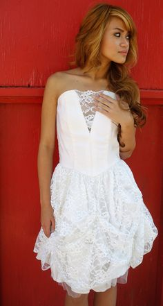 Vintage Cream White Dress  80s Lace Front Satin Classy by ChicShip, $80.00  WANT THIS DRESS FOR RED OAK WITH COWBOY BOOTS!