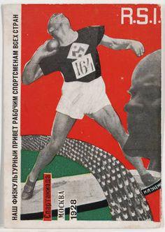 Gustav Klutsis, Postcard for the All Union Spartakiada Sporting Event, 1928