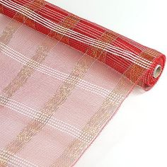21 Inch Deco Mesh  | Wholesale Ribbons US Find the Poly Deco Xmas Check Mesh Metallic Stripe (21 Inch x 10 Yards) in Red and Silver color from our online shop WholesaleRibbon.us. We have the latest design in different size and colors. For more details visithttps://www.wholesaleribbons.us/products/poly-deco-xmas-check-mesh-metallic-stripe-red-with-silver-21-inch-x-10-yards-a5252  21 inch deco mesh