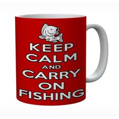 Keep Calm And Carry On Fishing Mug #keepcalm #keepcalmmugs #mugs #personalised
