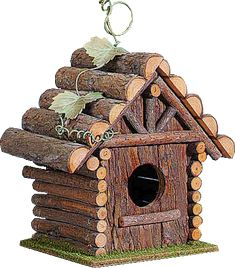 i'll hang this log cabin on a tree next to my log cabin