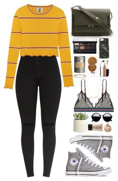 """Untitled #403"" by emmeleialouca ❤ liked on Polyvore featuring Topshop Unique, Converse, Marni, Allstate Floral, LoveStories, Threshold, NARS Cosmetics, Happy Plugs, MAC Cosmetics and Stephen Webster"