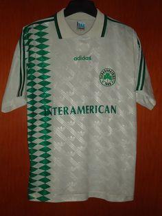 435be7605 Panathinaikos Rare 1995-96 Adidas (L) Football Jersey   Shirt Sport T Shirt