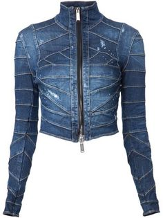 Dsquared2 Jaqueta jeans cropped