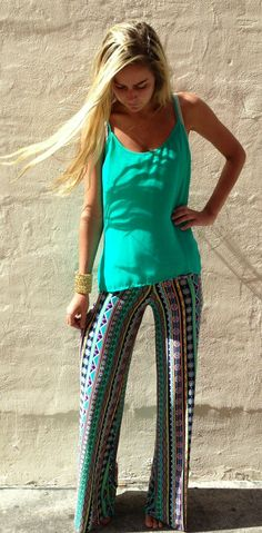 Over the rainbow teal exuma pants from Boca Leche Exuma Pants, Teal Pants, Flowy Pants, Comfy Pants, Loose Pants, Summer Outfits, Cute Outfits, Summer Clothes, Baby Boy