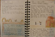 "We wrote ""Important Book""-inspired passages based on the two Steinbeck novellas we were reading in seventh grade.  You can do this in your writer's notebook with any characters you're studying from any book.  Here's my online lesson: http://corbettharrison.com/free_lessons/Important-Book.htm#2  This notebook is from Cheyenne, 7th grade."