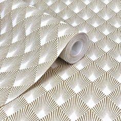 Home Style Diamond Motif Gold And Cream Wallpaper - WL-433609 Hexagon Wallpaper, Pearl Wallpaper, Diamond Wallpaper, Rose Gold Wallpaper, Cream Wallpaper, Art Deco Wallpaper, Orange Wallpaper, Painting Wallpaper, Modern Wallpaper