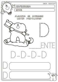 Resultado de imagem para atividades com a letrinha d Kitty, Comics, 1, David, Letter M Activities, Abc Centers, Sight Word Activities, Kids Learning Activities, Letter D