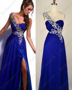 994e02a47f One-Shoulder Beaded A-line Long Prom Dress