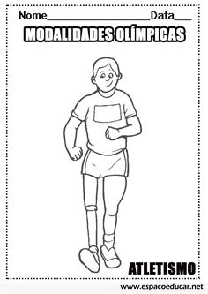 Desenhos das modalidades esportivas das Olimpíadas para colorir, pintar, imprimir: Atletismo - ESPAÇO EDUCAR