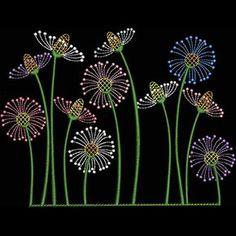 Japanese Embroidery Sashiko BIN_Wildflowers/Kreations by Kara - Sashiko Embroidery, Embroidery Flowers Pattern, Japanese Embroidery, Hand Embroidery Stitches, Hand Embroidery Designs, Embroidery Techniques, Ribbon Embroidery, Embroidery Thread, Machine Embroidery