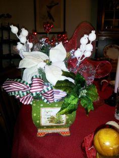 White Poinsettia Box