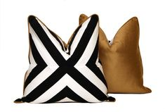 B Patchwork X Pillow by CCDeuxVie on Etsy, $49.50